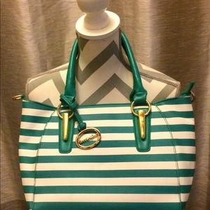 Handbags - Sorrentino Green Striped Bag